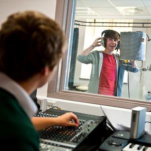 Students in Music Studio