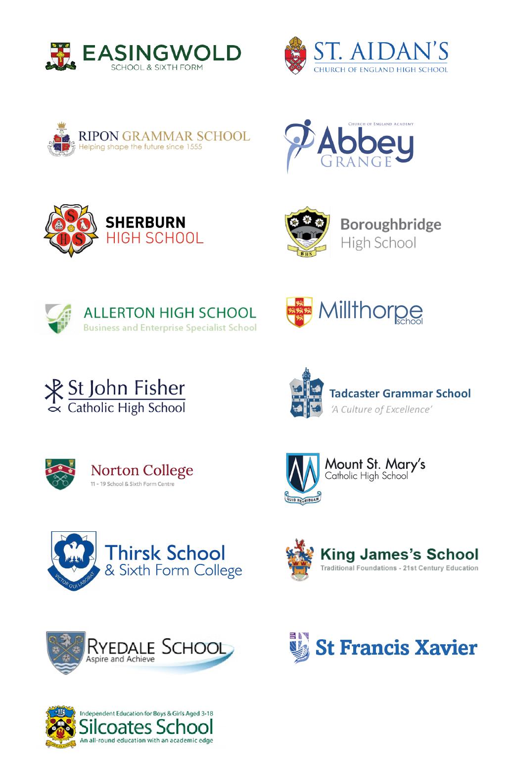 YTSA Partner School Logos